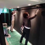 アートギャラリー壁塗装DIY:銀座eggs