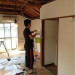 壁塗装DIY:駒沢の事務所