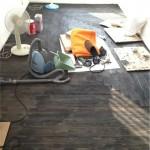 ヘリンボーン床貼りDIY:駒沢の事務所